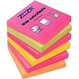 ZCZN Feuillets autocollants 480 Feuillets, Sticky Notes de 76 * 76mm, 80 Feuillets par Blocs Notes Autocollantes Convient aux