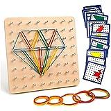 Babyhelen Houten Montessori Toys, Houten Geometrische Vormen Baby Geometry Board Houten Set, Ontwikkelen van verbeelding en g