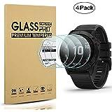 Diruite [Pack of 4 for Fenxi6/Fenix6 pro /Fenix6 Pro Solar Tempered Glass Screen Protector for Fenxi6x Intelligent Watch…