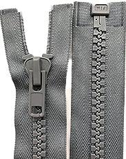zipworld Reißverschluss Kunststoff GROBE Zähne 8mm Reißverschlüsse für Zelt,Planen, Outdoor usw.