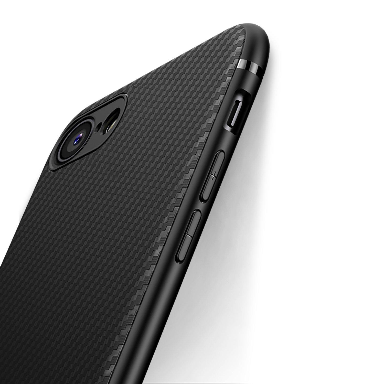 0d1b64c9f9a Comprar Funda iPhone 8, Funda iPhone 7, J Jecent [Textura Fibra de ...
