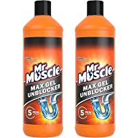 Mr Muscle Sink and Drain Gel 100% Extra Free 2x1L Bottles