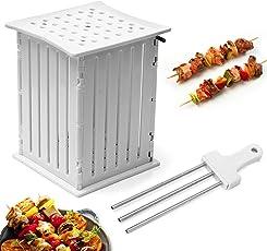 Janolia Kebab-Maker, 36 Hole Fleischspieß Werkzeug mit Spießen Weiß für BBQ Grill Beefsteak Gemüse