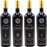 Gran selezione Vini in Purezza Dante. Ciliegiolo V 2016, Pugnitello XII 2017, Foglia Tonda XV 2015 e Sangiovese III 2015