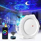 Sternenhimmel Projektor, WIFI LED Sternenhimmel Projektor mit Alexa Fernbedienung, Sternenhimmel/Mond/Wasserwellen Welleneffe