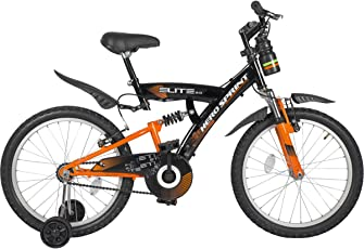 Hero Sprint 20T Elite Single Speed Junior Cycle, 15-inch Frame (Black/Orange)