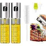 Eletorot Oil Sprayer Dispenser,Azijn Sprayer,Dressing Spray met Brush Portable,Grilling Olive Oil Glass Bottle 100ml,Premium