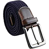 KYEYGWO Stretch Belts for Men, Braided Elastic Woven Webbing Belt with Buckle
