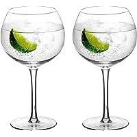 Amisglass Verres à Gin/Cockail/Champagne, Verres Cristals de 2 Pcs sans Plomb, Collection Avant-Garde, Parfait à la…