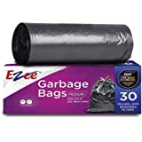 Ezee Plastic Garbage Bag - 19X21 Inch, 90 Piece,medium, Black, 3 Piece