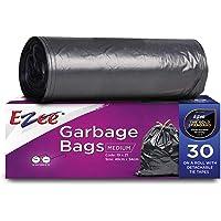 Ezee Garbage Bags/Dustbin Bags/Trash Bags - Medium - 19x21 inches - Pack of 3, Black - (30 Bags Per Roll)