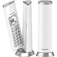 """Panasonic KX-TGK212JTW Telefono Cordless DECT con LCD 1.5"""", Retroilluminazione Bianca, Suoneria Polifonica, Blocco…"""
