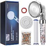 Baban Douchekop, driewatermodus filterhanddouche, waterdruk verhogen, uitgerust met een PP-katoen, een verpakking filterballe