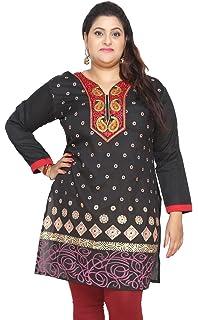 MapleClothing Designer Lang Indien Tunika Kurti Womens Party-Kleid-Blusen-Indische Kleidung