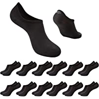 12 Pairs Invisible Trainer Mens Socks No Show Cotton Low Cut Ankle Socks Mens Ladies Multipack Non Slip for Sports with…