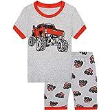 MIXIDON Pijamas Dos Piezas para Niño de Verano de Manga Corta 100% Algodón, Regalos de Pijamas de Dinosaurio para Niño, Ropa