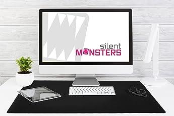 Silent Monsters Gaming und Office Mauspad (900 x 600 x 3 mm, Größe: XXXL) schwarz