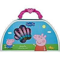 Undercover PIGP4220 Malkoffer Peppa Pig, mit Wachsmalkreiden, Fasermalern, Wasserfarben, Buntstiften und viel Zubehör…