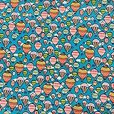 Hot Air Luftballons auf Blau Multi farbiger