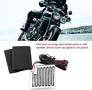 Scaldamani invernali a manubrio 12V per impugnatura universale di motociclette ATV Manopole per manubrio moto Pad riscaldato