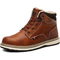 AX BOXING Mens Snow Boots Winter Warm Lined Ankle Boots Outdoor Walking Hiking Trekking Boots Size 7-11