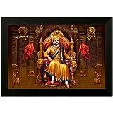 SAF UV Textured Shivaji Religious Framed Painting (35 x 50 x 2cms) SANFM6294