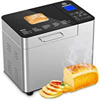 MooSoo Brotbackautomat mit 25 Backprogramme, 3 Backfarben und 3 Brotgrößen, ca. 2L, mit Wärmehaltung, Ganzglasoberfläche…