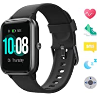 【Neueste】 GRDE Smartwatch Bluetooth V5.0 Fitness Armbanduhr Touchscreen Fitness Tracker 5 ATM Wasserdicht Smart Watch Sportuhr mit Schrittzähler Herzfrequenz/Schlaf Monitor Stoppuhr für IOS Android
