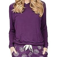 Cyberjammies Margo 4980 Women's Purple Modal Hooded Pyjama Top