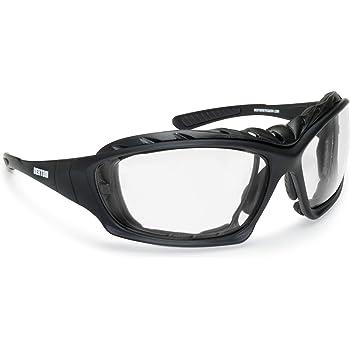 Gafas Moto Fotocromaticas Lentes Anti-Vaho - Clip Óptico para Lentes Correctivas - Patillas Sustituibles con Banda Elastica - F366 by Bertoni