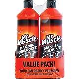 Mr Muscle Max Gel Drain Unblocker 2 x 1 Litre