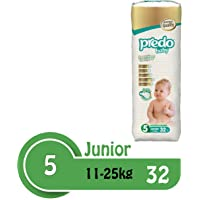 Predo Baby Junior Advantage Pack Diapers, 11-25 Kg, 32 Piece, One Size (White)