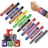 36 stuk Slap Armband, Kinderen kleurrijke Gesp Armband Superheld klap Riem Klap Armband Slap Armband voor Kinderen Volwassene