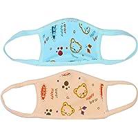Besties Teddy Printed Protective Masks For Kids (Pack of 2 Blue/Orange)
