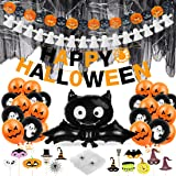 Halloween spinnenweb ballonnen decoratieset Happy Halloween Decoration geest pompoenslinger, Halloween kinderfeestballonnen,