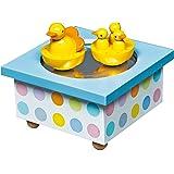 Trousselier - eend & baby's - dansende muziekdoos - muziekdoos - ideaal geboortegeschenk - 2 afneembare figuren - eenvoudige