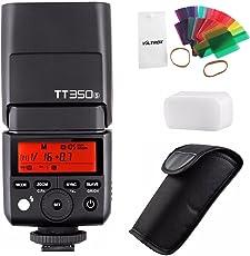 Godox TT350S 2.4G 1/8000s HSS TTL flash Speedlite GN36wireless luce con 20PC color filtro diffusore per Sony A7II A7R II II A6300A6000camera