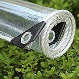 Waterdichte Transparante Zeildoek 0.35mm Zware Duidelijk Tarp Anti Bevriezen Regendicht Film Doek Isolatie Luifel PVC Plastic