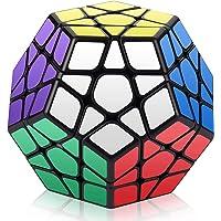 ROXENDA Speed Cube, Megaminx Vitesse Cube de Magique, Facile à Tourner et à Lisser Speedcube (Megaminx Noir)