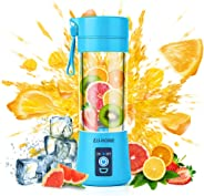 Portable Blender,Zjj-Home Smoothie Blender-Six Blades in 3D, Mini Travel Personal Blender with USB Rechargeable Batteries,Household Fruit Mixer,Detachable Cup,USB Juicer Cup 380ml (FDA BPA free)