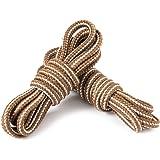 LARGERED Lacci Scarpe Colorati Rotondi per Stivali da Lavoro,Scarpe Da Trekking,Scarpe Basse e Casual e Stivali,Stringhe Scar