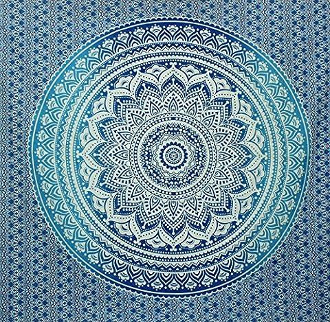 Kesrie Hippie Mandala wall hanging cotton printed throw geometric (Happy Tree Friends Christmas Lights)