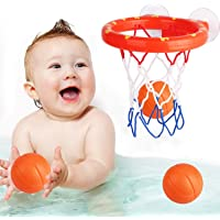 Addmos Bath Toy Fun Basketball Hoop & Balls Set for Boys and Girls Kid & Toddler Bath Toys Gift Set 3 Balls Included