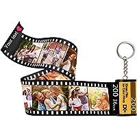 Cristallo Portachiavi Keychain Personalizzato con Foto Logo Testo, Personalizzabile Portachiavi Donna Uomo,Regalo Cambia…