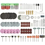 """KKmoon 166PCS 1/8 """"1.5mm, 2.35mm, 3.0mm, 3.2mm Shank Rotary Tool Accessoires Set Sanding Polishing Grinding Bit d'accessoire de coupe pour Dremel Grinder"""