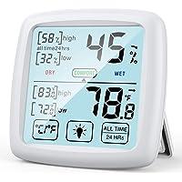 NIXIUKOL Termometro Ambiente Igrometro Digitale Interno Professionale Termoigrometro con Ampio Touch Screen, Indicatore…