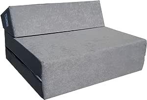 Natalia Spzoo® Matelas de jeunesse lit fauteuil futon pliable pliant choix des couleurs - longueur 160 cm (Gris)