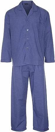 Champion Men's Henley Long Polycotton Long Pyjama Set