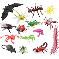 SUPER TOY 15 Pcs Insects Animal Toy Figure Playing Set for Kids