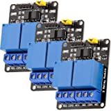 AZDelivery 3 pcs 2 Canales Modulo Rele 5V con Optoacoplador Low-Level-Trigger compatible con Arduino con E-Book incluido!